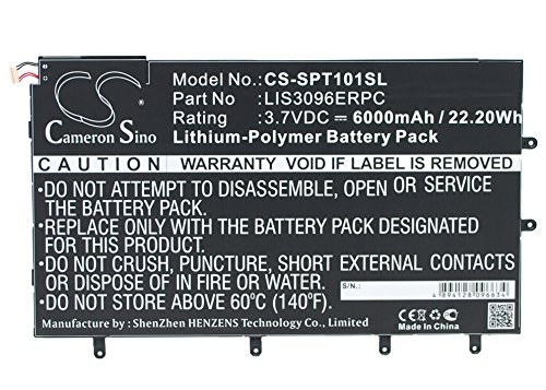 CS-SPT101SL Batteria 6000mAh compatibile con [SONY] SGP321, SO-03E, Xperia Tablet Z, Xperia Tablet Z 10.1' sostituisce LIS3096ERPC
