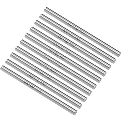 uxcell Round Steel Rod, 6mm HSS Lathe Bar Stock Tool 100mm Long, for Shaft Gear Drill Lathes Boring Machine Turning Miniature Axle, Cylindrical Pin DIY Craft Tool, 10pcs