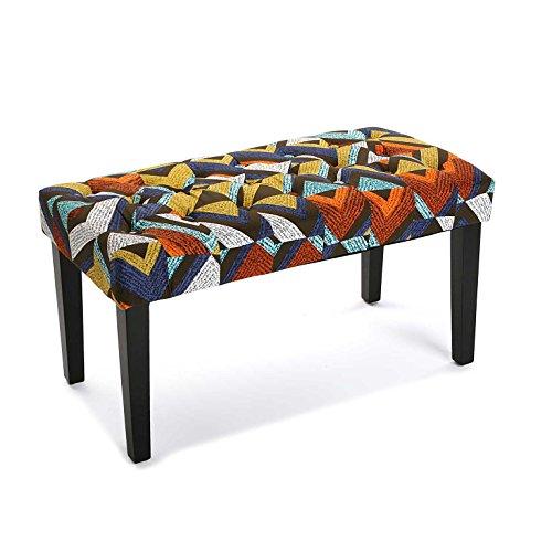 Versa 19501340 Taburete pie de cama Dover , 45x40x80 cm, Multicolor, Banco