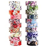 Gukasxi 20 rotoli di nastro adesivo washi a forma di fiore, nastro adesivo decorativo per scrapbooking, confezione regalo