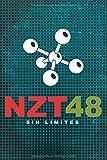 NZT 48, SIN LÍMITES: cuaderno de 110 Páginas rayadas para anotaciones o escritura creativa