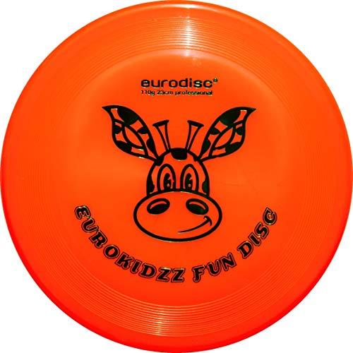 eurodisc Kidzz Giraffe Frisbee, Naranja, 23 cm