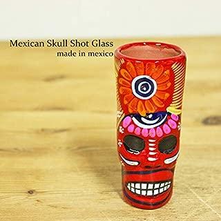 RUG&PIECE Mexican skull メキシカンスカル ショットグラス メキシコ製 (int-2210)