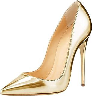 50-70% de descuento precio más bajo con precios baratass Amazon.es: tacones charol - Dorado / Zapatos de tacón ...