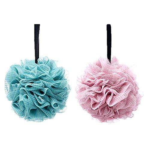 2pcs esponjas de baño suaves,esponja bano,Esponja Exfoliante,Adecuado para mujeres y hombres para exfoliar, limpiar y calmar la piel (60 g/PCS)