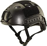 haoYK Casco deportivo multiusos para airsoft, paintball, color negro