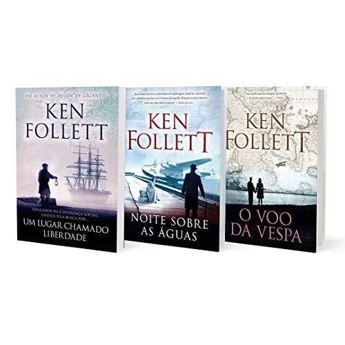Coleção Ken Follett - Um Lugar Chamado Liberdade + Noite Sobre As Águas + O Vôo Da Vespa