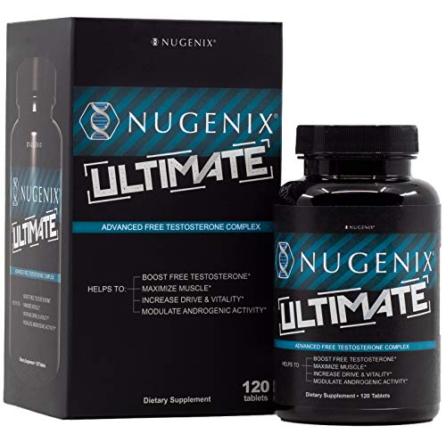 Nugenix Ultimate Testosterone Booster for Men, Clinically Researched, Maximizes Muscle, Boost Vitality, Mega Dose D-Aspartic Acid - 120 Count