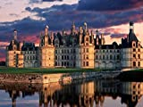 YYone 1000 Piece Wooden Jigsaw Puzzle Chateau de Chambord, Castle, Loire Valley, France Large Puzzle Game for Adults and Teenagers