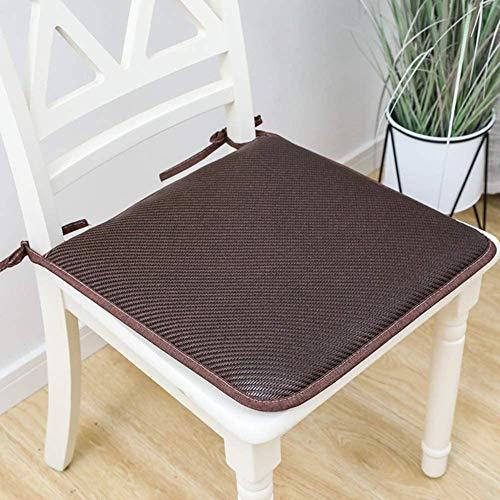 TYHZ Cojines Para Sillas Cojines de comedor de cocina de color sólido, almohadillas de silla cuadrada de verano con corbatas, cojín de asiento suave interior al aire libre en exteriores sin deslizamie