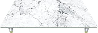 CounterArt Design Tempered Glass Instant Counter-White Marble