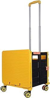 AZDS Chariot de magasinage Multifonctionnel Portable 48L, Panier de Rangement Pliant à 4 Roues épicerie (Chariot de Campin...
