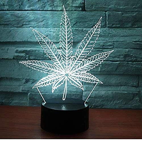 Luz nocturna 3D - 3D LED Luz de noche ilusión Nueve Pétalo Forma 7 colores LED Touch lámpara de mesa con control remoto para niños cumpleaños regalo Iluminación infantil nocturna