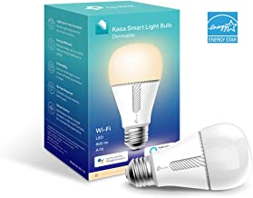 Kasa Smart Wi-Fi LED Light Bulb by TP-Link - Dimmable, A19, No Hub Required, Works with Alexa & Google Assistant, Also Available for California residents (KL110)