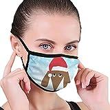 CZLXD - Máscara Antipolvo para Perro de Papá Noel, máscara de Boca anticontaminación para Hombre y Mujer