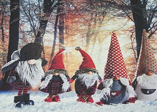 BIANCHERIAWEB Tappeto passatoia, tappeto runner, retro antiscivolo, passatoia corsia cucina , protezione pavimento, fantasie natalizie
