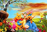 CHANGJIU- Puzzle 1000 Piezas- Póster del Anime De Winnie The Pooh -Puzzle 3D Personalizado De Madera Montaje Rompecabezas Divertido,Rompecabezas Creativo Clásico 75X50Cm
