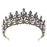 Diadema de corona Europea estilo de la corona de Headwear de novia Tiara de la boda de maquillaje nupcial tocado corona Adornos princesa barroco corona boda accesorios for el cabello pelo de las mujer
