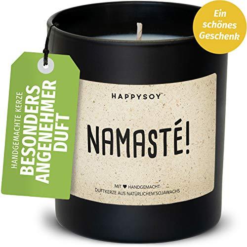 Namaste Duftkerze im Glas mit Spruch aus Soja 100% natürlich handgemacht - nachhaltig persönlich Geschenk Geschenkidee für beste Freundin Mama Freund zum Geburtstag - Yoga Meditation Entspannung
