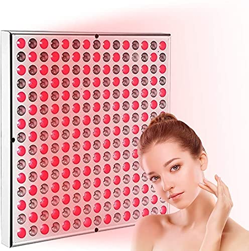PGKCCNT El panel de las lámparas de calor de la belleza de la luz roja, el dispositivo de luz cercano para el alivio antienvejecimiento, el alivio del dolor, el combo de bombillas de color intenso pro