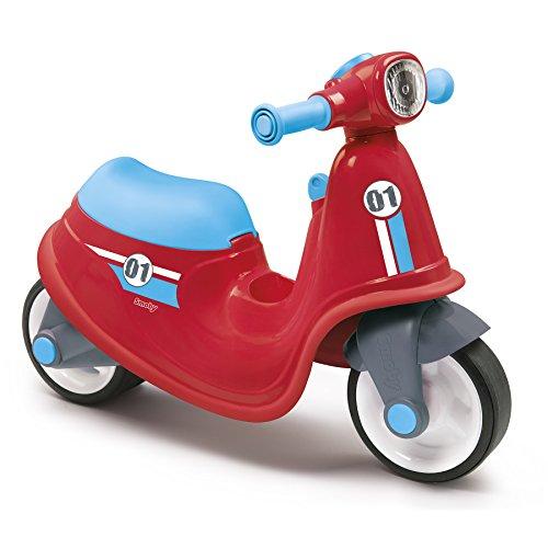 Smoby - Porteur Scooter Rouge - Pour Enfant Dès 18 Mois - Roues Silencieuses - Coffre à Jouets -...
