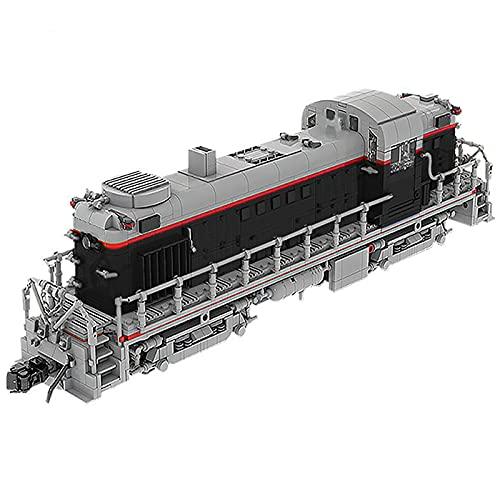 WANZPITS Kit De Construcción De Trenes De Carga Negra Clásica; RS11 Modelo Técnico Pistas Kit De Tren Diesel Locomotive, Compatible con Los Conjuntos De Lego para Adultos,(2248 Pieces)