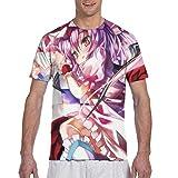 十六夜咲夜5 メンズ トップス 3d プリントゆったり クルーネックtシャツ 半袖柔らかいtシャツ メンズ レディース 快適 カジュアル おしゃれ