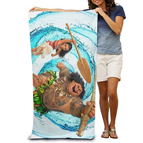 Moana Maui Toallas de baño de Dibujos Animados con Estampado de Bricolaje Toalla de Playa de Gran tamaño Que no se desvanece Aplicar a Yoga Viajes Camping Gimnasio Piscina Playa Sillas