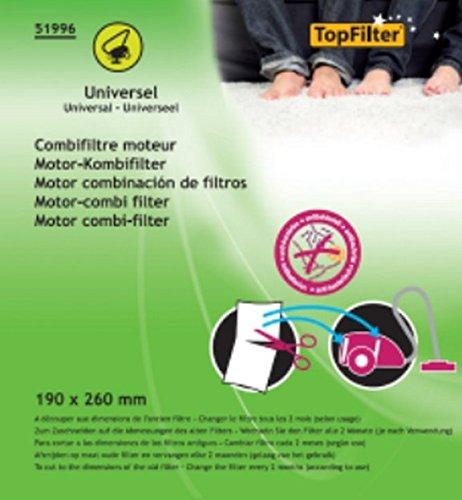TopFilter 51996, combifiltre moteur universel 190x260 mm