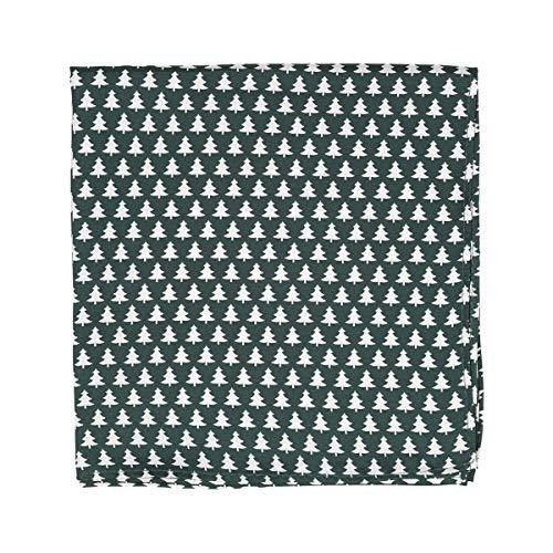 TIE RACK - Pochette per costume 100% seta con stampa di abete verde Taglia Unica