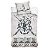 SETINO Harry Potter Juego de ropa de cama, funda nórdica de 140 x 200 cm y funda de almohada de 65 x 65 cm, algodón