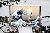 Zelda - Wind Waker Great Wave Off Kanagawa - Legend of Zelda Wall Art Print Poster, Canvas Gallery Wraps Wall Decoration