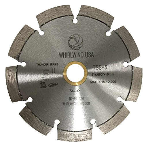 Whirlwind USA TSS 5-inch Laser Welded Dry or Wet General Purpose Standard Power Saw Segmented Diamond Blades (Factory Direct Sale) (5