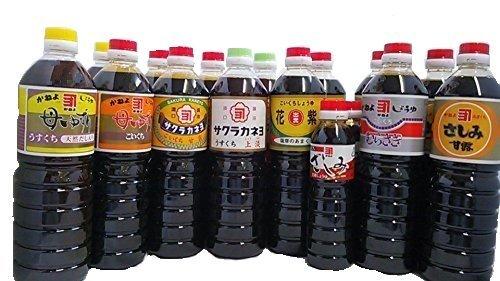 鹿児島の甘い醤油 味比べセット 8種類 花紫・母ゆずり・サクラカネヨ