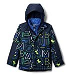 Columbia Youth Boys Whirlibird II Interchange Jacket, Coll Navy Typo Multi Print/Coll Navy, Medium