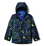 Columbia Youth Boys Whirlibird II Interchange Jacket, Coll Navy Typo Multi Print/Coll Navy, Small