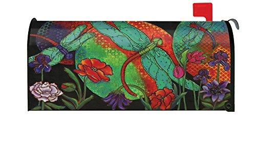 Toland Home Garden Twilight Flight Dragonfly Flower Sunset Magnetic Mailbox Cover