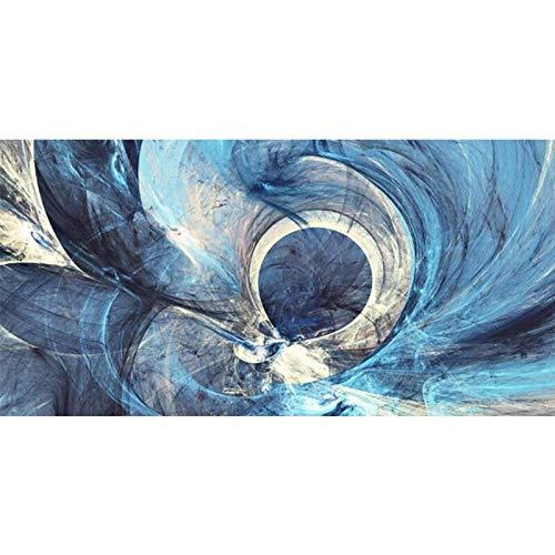 CHBOEN Peinture décorative Abstrait Creative Blue Lines Toile Peinture Moderne Posters et Print Art Art Images pour salon Accueil Décoration Cuadros