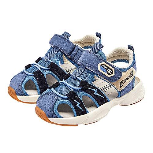 Girls' Outdoor Sandalen, Peuter Beach Schoenen Boys' Sand Sandals Closed Toe Zachte Bodem Zelfklevend Summer Kids,Blue,24EU