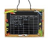Stundenplan aus Holz mit 3D-Applikationen (Tafel)
