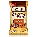 Snyder's Pretzel Crisps - Pack of 3, 340g Hot Buffalo Wing