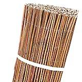 VALLA de MIMBRE NATURAL ESPAÑOL cosido con alambre galvanizado de 1 mm de grosor, cada 10 cm de distancia entre alambres, obteniendo un producto decorativo y elegante. (1,2 x 5 m)