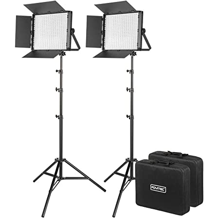 900 LED Bi-Color Panel for Video and Photo with Barndoors and Case DMX V-Lock Mount FOVITEC