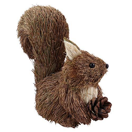 Kisangel Squirrel Animal Figurine Cute Squirrel Wooden Animal Figurines Toys Playset Cake Tooper Fairy Garden Landscape Ornament Decor