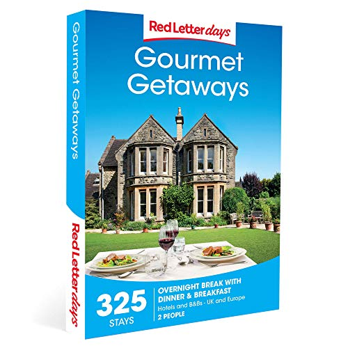 Red Letter Days Gourmet Getaways Gift Voucher – 325 UK overnight stays with dinner for two