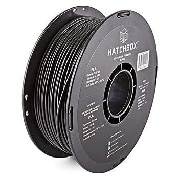 HATCHBOX PLA 3D Printer Filament Dimensional Accuracy +/- 0.03 mm 1 kg Spool 3.00 mm Black