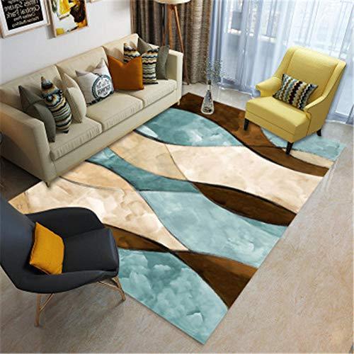 HXJHWB Modern Trendig Design Inspiration Multi - Kreative Aquarellmalerei Teppich des Luxushotels Rutschfester, langlebiger, dauerhafter Pflegeteppich-160CMx200CM