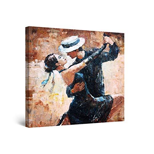 Startonight Cuadro Moderno en Lienzo - Tango Argentino - Pintura Animales para Salon Decoración 80 x 80 cm