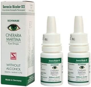 2 x Cineraria Maritima Eye Drops Homoeopathic Medicine - 10ml
