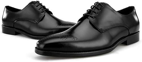 FLYSXP zapatos De Hombre, zapatos De Negocios, Versión para Hombre, zapatos, Capa De Los Pies, zapatos De Hombre, De Cuero. botas de Cuero de los hombres (Color   negro)